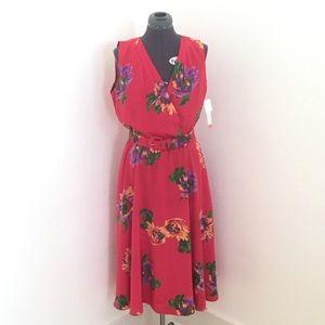 Liz Claiborne Vintage Silk Dress, S 14P/M, NWT